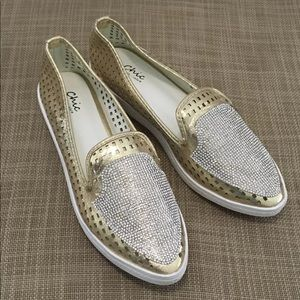 Chi by Lady Couture Women's Gold Flats 11 NEW